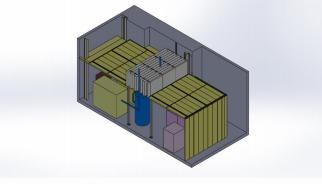 Diseño preliminar 3D – Sección transversal.